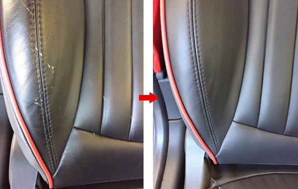 MINI(BMWミニ) 本革シート 擦れ 傷 修理 補修