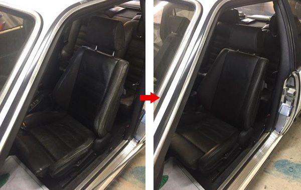 BMW 635csi 本革シート 汚れ 擦れ 補修 修理