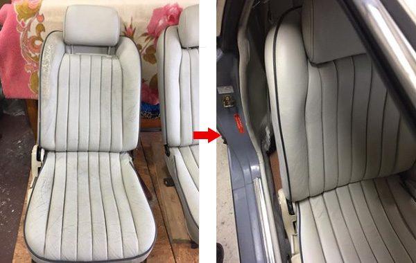 日産フィガロ シート 擦れ 劣化 修理 補修