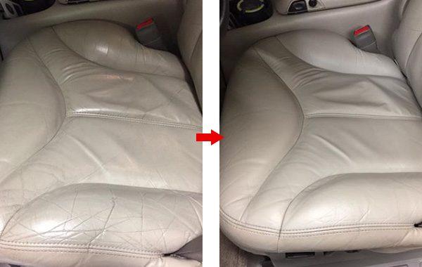 GMC ユーコン 本革シート 座面 擦れ 修理 補修